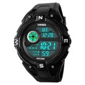SKMEI 5ATM Water-resistant Sport Watch Men Watches Digital Wristwatch Male Backlight Chronograph