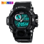 SKMEI Professional Dual Time Multifunctional High Quality Men Sports Wristwatch Water Resistant Outdoor Electronic Watch with Functions of Date Week Alarm Split Time