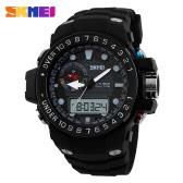 SKMEI Luxury Brand Digital Watches Fashion Men Dual Time Watch Army Military Quartz Sport Wristwatch with Decoration Small Dial