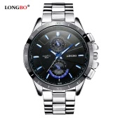 LONGBO Brand New Fashion Sports Wristwatch Luxury Quartz Watches Men Alloy Strap Watches Man Waterproof Military Watch 8833