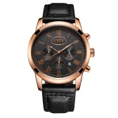 OCHSTIN Antique Luxury Genuine Leather Quartz Men Wristwatch Water-Proof Chronograph Casual Watch Masculino Relogio + Box