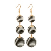 Fashion Drop Ball Earrings Classic Bohemian Style Curled Earrings for Women Jewelry Travel Gift
