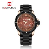 NAVIFORCE 2016 New Fashion Stainless Steel Quartz Men Watch 30M Daily Water-resistant Man