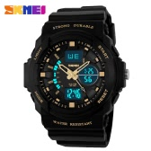 SKMEI Brand New Men Sport Digital Watch LED Jelly Quartz Wristwatches Rubber Strap Military Male Clock Wristwatch 50M Waterproof Student Sports Watches