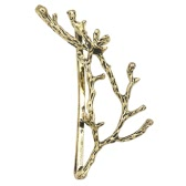 Vintage Retro Fashion Cute Delicate Beautiful Alloy Antlers Branches Pigtail Hairclip Clip Claw Updo Princess Hairpin Bride Women Girls Creative Hair Jewelry Barrettes Accessories