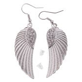 1Pair Wing Drop Earrings For Women Fashion Angle Punk Antique Sliver Earring Jewelry