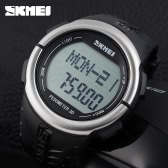 SKMEI Pedometer Digital Sports Watch Heart Rate Monitor Fashion Casual Wristwatch with Chronograph Function