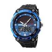 SKMEI Fashion Solar Power Dual Time Sports Military Watch Waterproof Wristwatch for Men and Women