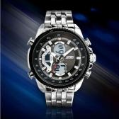 SKMEI High Quality Analog-Digital Dual Time Quartz Timepiece Waterproof Fashion Stainless Steel Business Wristwatch