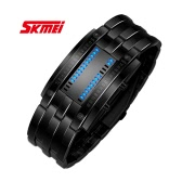 SKMEI Zinc alloy Watch Cool Rectangle Electronic LED Waterproof Men Wristwatch