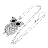 Romacci Lively Shinning Fashion Owl Pendant Collar Chain Necklace Jewelry