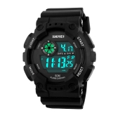 SKMEI High Quality 5ATM Waterproof Sports Wristwatch Fashion Outdoor Activity Military Cool Watch with Function   of Week Split Time Alarm