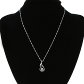 Fashion Romantic Angle Wing with Rhinestone Zircon Crystal Necklace Chain Jewelry for Woman Girl