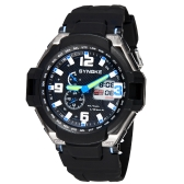 SYNOKE Fashion Multifunctional Digital Analog Dual Display Watch Water Resistant Outdoor Wrist Watch