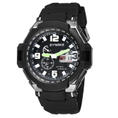 SYNOKE Fashion Multifunctional Digital Analog Dual Display Watch Water Resistant Outdoor Wrist Watch Black
