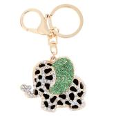 Fashional Jewelry Hollow Shinning Rhinestone Aureate Elephant Pendant Key Ring Key Chain