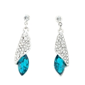 Luxurious Retro Desert Light Sea Thought Rhinestone Crystal Earring Jewelry Accessories for Woman Girl