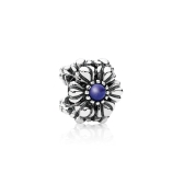 Romacci Sunflower Charm with CZ Diamond Beads S925 Sterling Silver for European Bracelet DIY Women Jewelry