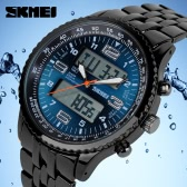 SKMEI Fashion Analog-Digital Double Time Display Waterproof Quartz Sports Wristwatch