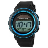 SKMEI Solar Powered Digital Sports Watch with 5ATM Water-resistant Chronograph Alarm Backlight
