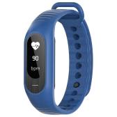 SKMEI BT4.0 Water-Proof Touch Screen OLED Smart Sports Bracelet Watch + Watch Box-Dark Blue