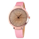 Trendy Simple Delicate Watch for Women Quartz Gold Surface Fantasy Stars Crystals Watch