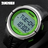SKMEI Fashion Casual Pedometer Digital Sports Watch Heart Rate Monitor Wristwatch with Chronograph Function