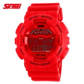 SKMEI 5ATM Water Resistant Men Digital Wristwatch Outdoor Sports Military Watch with Calendar Alarm Backlight Week Stopwatch