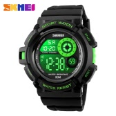 SKMEI Digital LED 50M Water-Proof Unisex Sports Military Watches Cool Men Women Electronic Outdoor Casual Wristwatch Alarm Backlight Chronograph Date Relogio 7 Colors