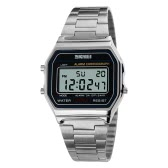 SKMEI Cool Digital Men Women Bussiness Wristwatch Luxury Vintage Luminous Couple Watch 3ATM Water-resistant Multi-function Unisex Sports Watch