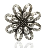 Fashion Zinc Metallic Flower Scarf Shawl Buckle Clip Ring Brooch Jewelry Accessories for Women Gift