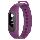 SKMEI BT4.0 Water-Proof Touch Screen OLED Smart Sports Bracelet Watch + Watch Box-Purple