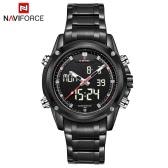 NAVIFORCE Luxury Brand Digital-Analog Sports Military Watch 3ATM Waterproof Luminous Men Quartz Wristwatch