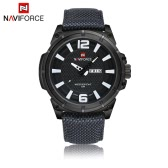 NAVIFORCE Fashion 3ATM Water Resistant Nylon Watchband Analog Quartz Watch for Men