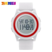 SKMEI 5ATM Water Resistant Fashion Digital Casual Sports Wrist Watch Classy Lightweight Watch with Calendar