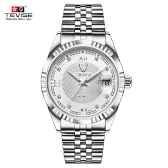 TEVISE Top Brand Men Fashion Luxury Waterproof Wristwatch Automatic Mechanical Watch Business Men