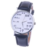 OKTIME Wandergirls Mathematical Formula Unisex Quartz Trendy Wrist Watch Stainless Steel Leather Belt Watches