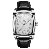 TEVISE Vintage Luminous Automatic Mechanical Men Watch Water-Proof Self-Wind Man Business Wristwatch Genuine Leather Calendar + Box