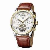 KINYUED Business Watch Automatic Mechanical Men Watches 3ATM Water-resistant Wristwatch Male