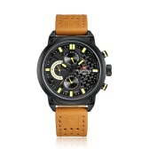 NAVIFORCE Brand Luxury Genuine Leather Quartz Men Casual Wristwatch Fashion Water-Proof Men Sports Military Watch Masculino Relogio