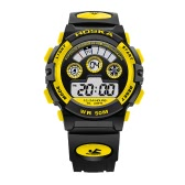 HOSKA 2017 LED Digital 50M Waterproof Student Sports Watch Electronic Boy Girl Children Wristwatch Alarm Backlight Stopwatch 7 Colors + Box