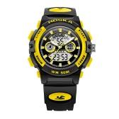 HOSKA 2017 New Dual Display LED Digital Quartz Children Sports Watch 50M Water-proof EL Student Boy Girl Wristwatch Alarm Stopwatch + Box