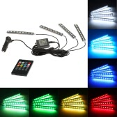 Wireless Remote Music / Voice Control Interior Atmosphere Light Bar Car Floor Dash LED Decoration Lamp Kit 12V