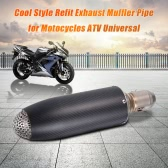 Universal 51mm Motorcycle Exhaust Muffler Pipe for ATV Super Cool Carbon Fiber Bullet Appearance