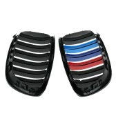 One Pair of Car Front Matte Black M-color Grille Grilles for BMW E92 2006-2009