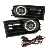 Right & Left Pair of Front Grille Fog Lights Angle and Devil Eyes LED Lamp for VW Golf MK5 2003-2008