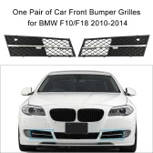 One Pair of Car Front Bumper Grilles Grille for BMW F10/F18 2010-2014