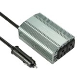 400W Power Inverter DC 12V to AC 110V Converter with 2.1A Dual USB Car Adapter