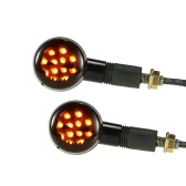 Pair of Motorcycle LED Turn Signal Light Lamp Universal for Harley Cafe Racer Custom