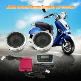 12V 40W Universal Scooters Waterproof Audio System Speaker with LED Display / TF Card   Slot / USB Port / FM Radio